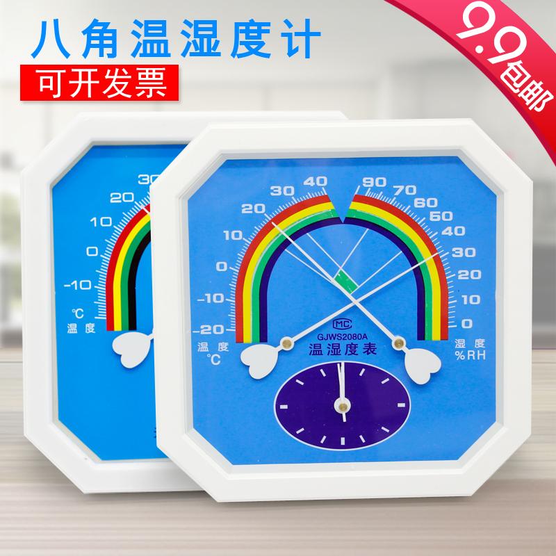 Восьмиугольный настенный указатель стиль сухой влажность ацидометр влажность степень стол промышленность высокой точности домой комнатный медицина дом большой пролить