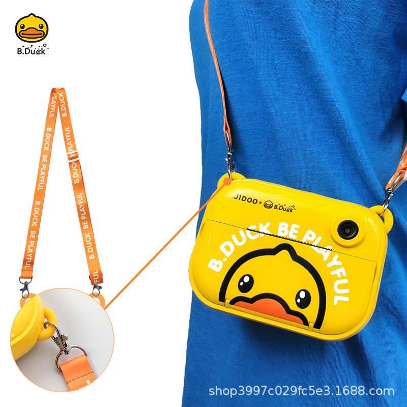 B.Duckダックの子供はデジタルカメラのおもちゃの携帯する赤ちゃんの小さい一眼レフの誕生日の贈り物を印刷することができます。
