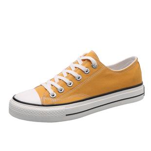 夏季橄欖綠帆布鞋男女低幫休閒鞋韓版百搭學生布鞋小髒橘港風板鞋