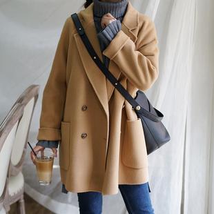 毛呢外套女 18秋冬 小个子反季双面羊绒羊毛大衣小妮子短款 东大门价格图片_乐多购物网