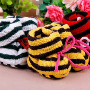 Double knit baby shoes wool shoes baby shoes newborn baby shoes toddler shoes autumn and winter home