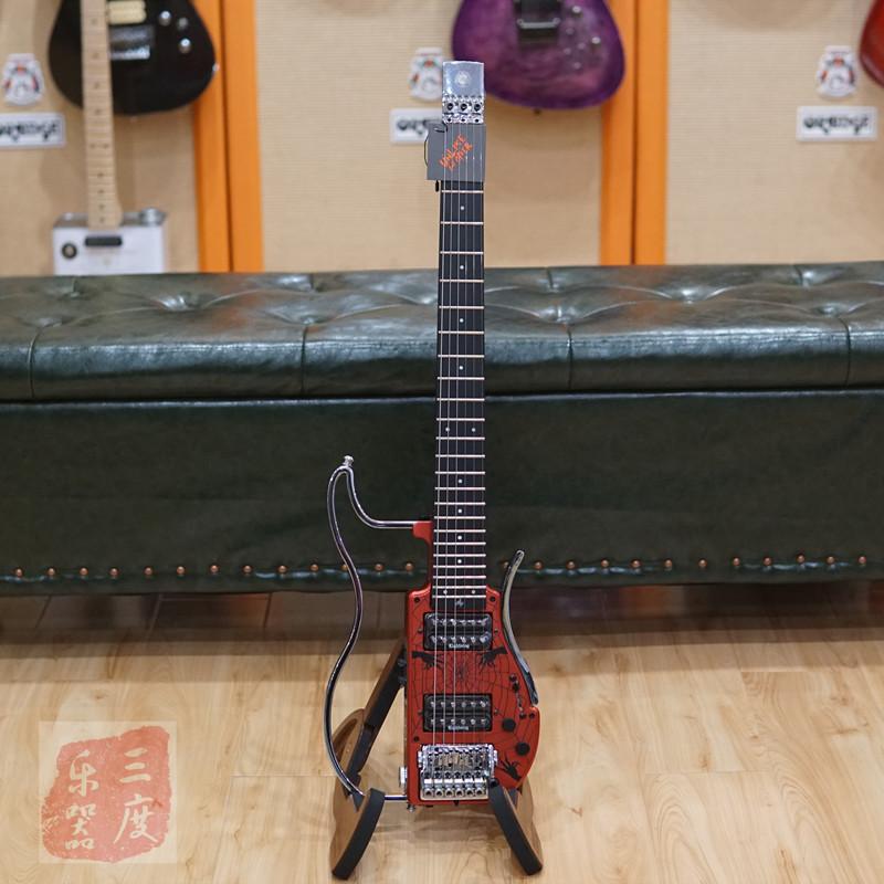 三度乐器ALP吉他无头静音折叠旅行电吉他摇滚ADS-361HCL陈磊款