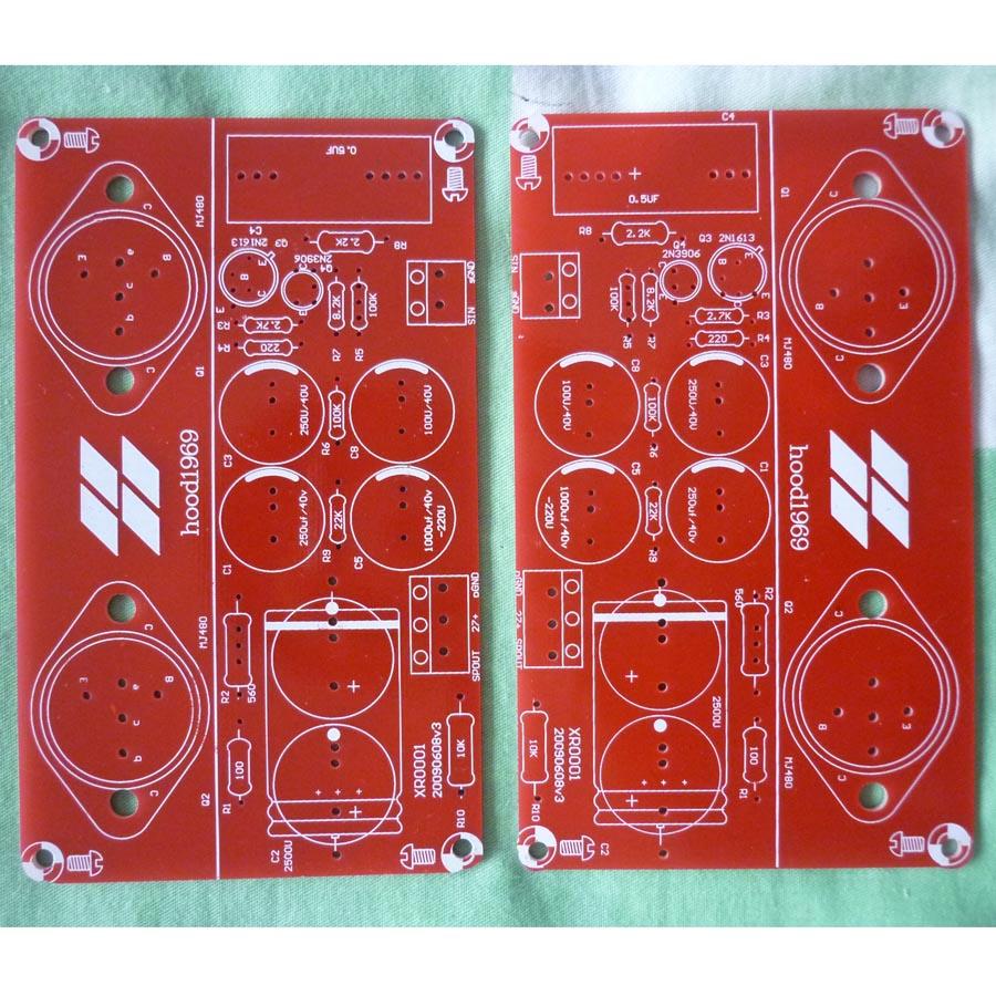 Усилитель мощности 10 Вт HOOD1969, набор из двух пластин, зеркало идеальный красный!