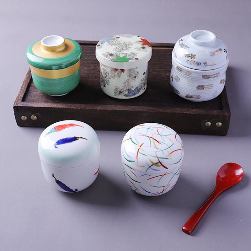 日式陶瓷炖盅复古和风蛋盅手绘带盖小汤盅日料创意味增汤盅蒸蛋盅