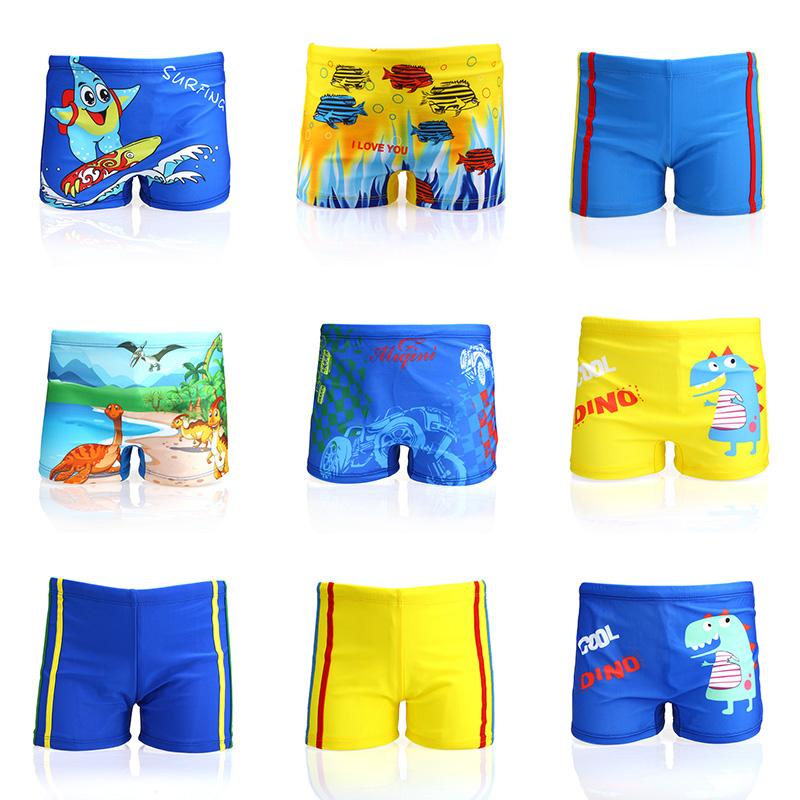 正品儿童泳裤男童宝宝泳衣平角男孩可爱婴儿卡通恐龙2-10岁游泳裤