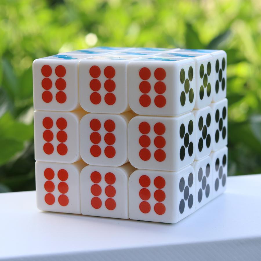 包邮魔域文化三阶骰子魔方 3阶魔方教室系列比赛竟速性能益智玩具满12.00元可用1元优惠券