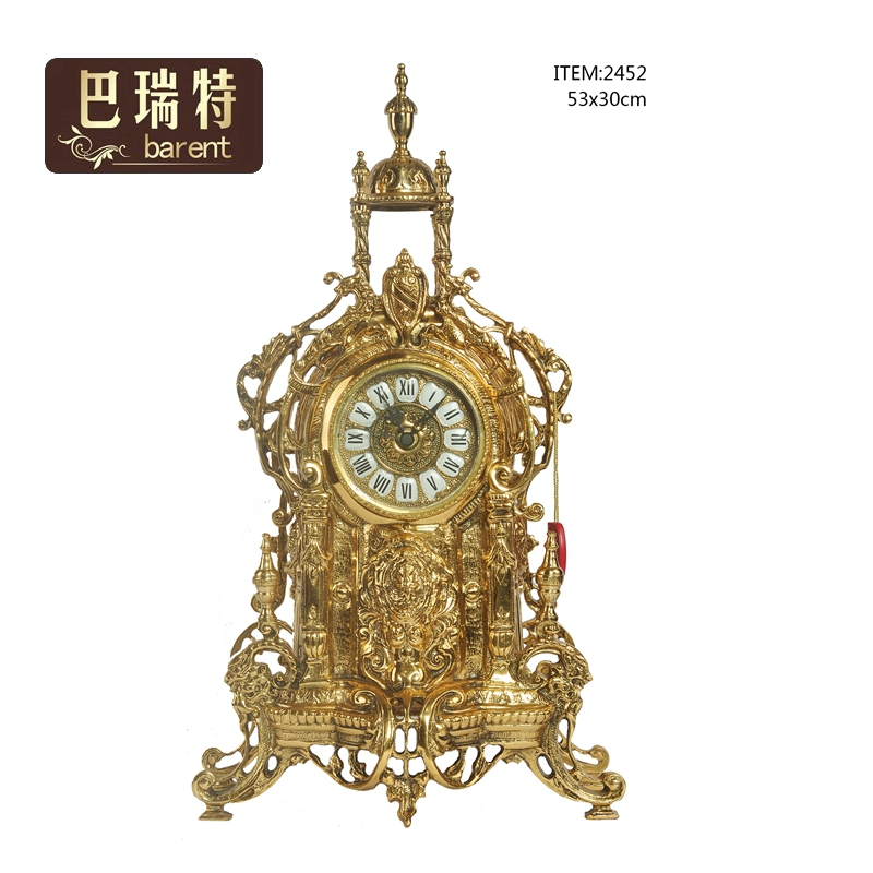 Barrett 2020 new home retro copper heavy industry sculpture golden Versailles Palace modeling clock