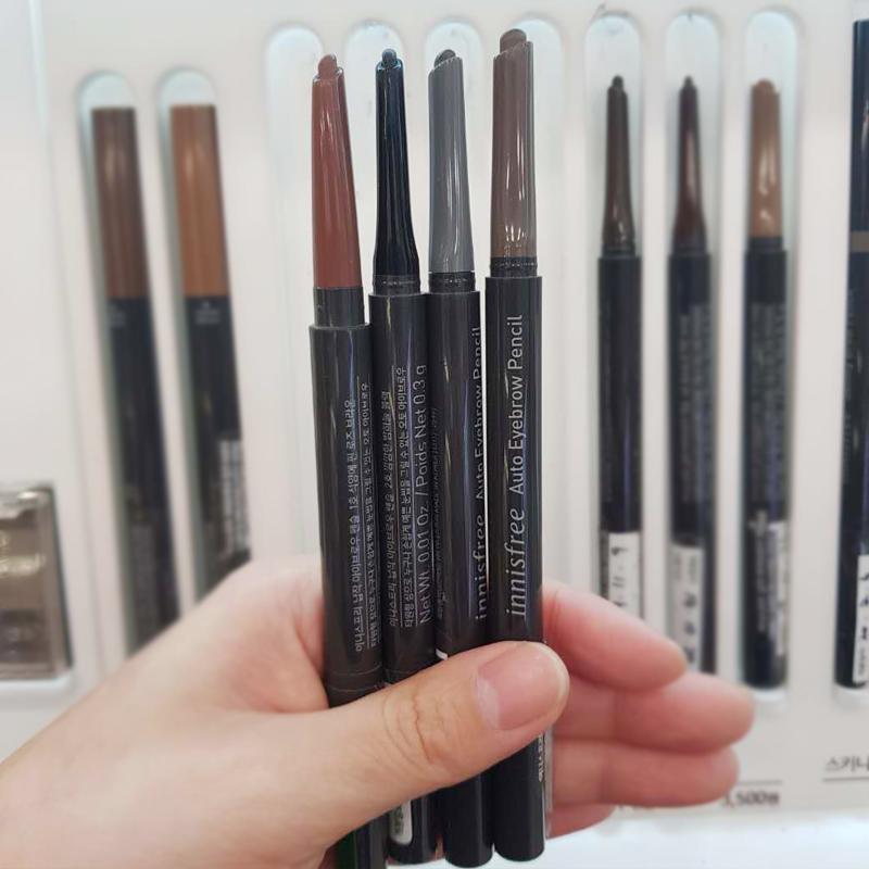 韩国专柜正品innisfree悦诗风吟ECO生机双头自动眉笔带眉刷易上色图片