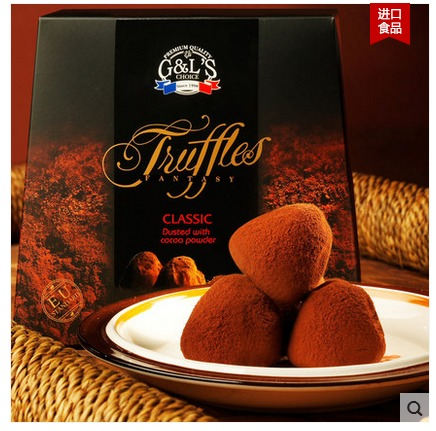 Original imported from France delphis truffle chocolate with classic flavor 1000g (cocoa butter substitute)