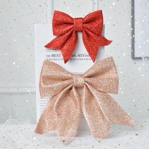 闪亮唯美超大蝴蝶结装饰礼物丝带立体造型墙壁挂饰圣诞树装饰挂饰