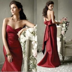 新商品は胸元の魚の尾の長い項の礼服を塗りますv襟のイブニングドレスの新婦の結婚の酒をすすめる服の年会宴会の晩装。