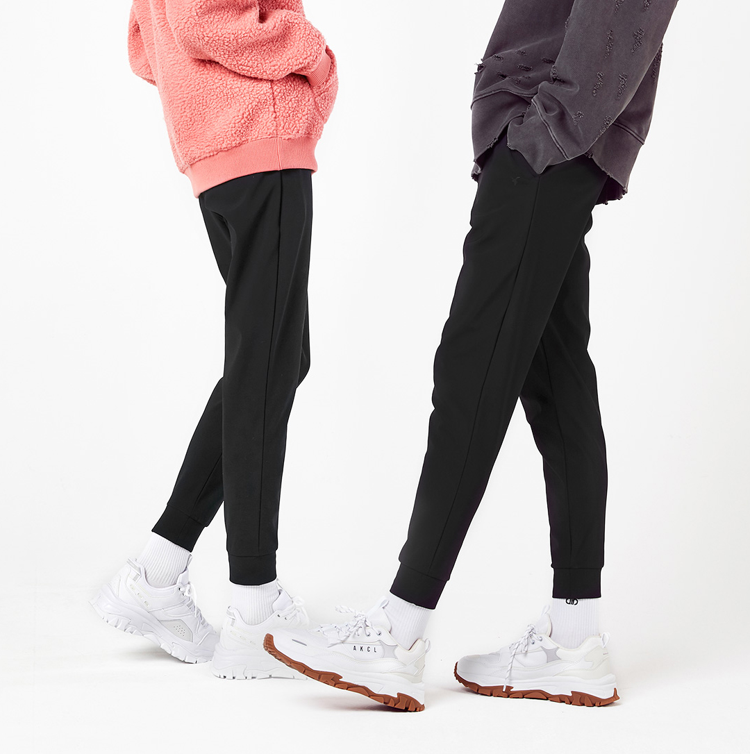 Korean leisure sports brand Korean high waisted slim boxer warm fleece jogging pants for men and women