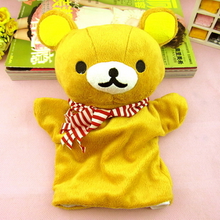 New lovely easily bear glove puppet creative cartoon dolls plush toy doll baby game