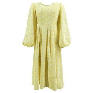 少女穿搭連衣裙收腰法式仙女裙碎花温柔甜美可鹽可甜蛋黃的長裙