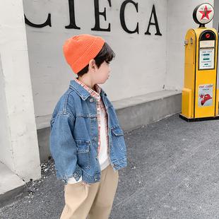 男童牛仔外套冬季洋氣寶寶上衣冬裝韓版兒童牛仔衣寬鬆小童童裝潮