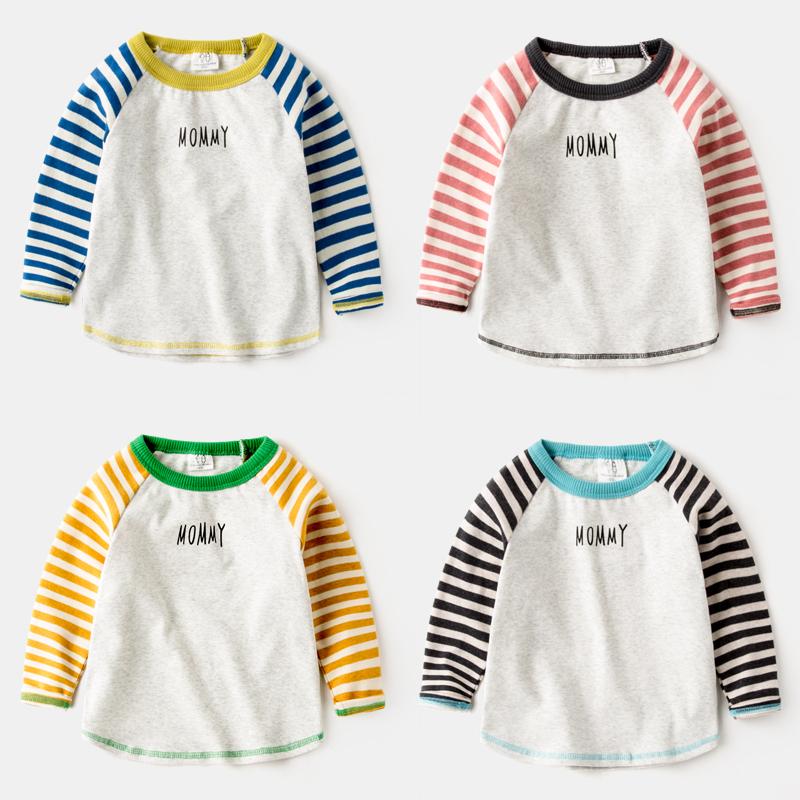 姐弟装2018新款春秋儿童男童长袖T恤4岁宝宝秋装打底衫上衣兄妹装