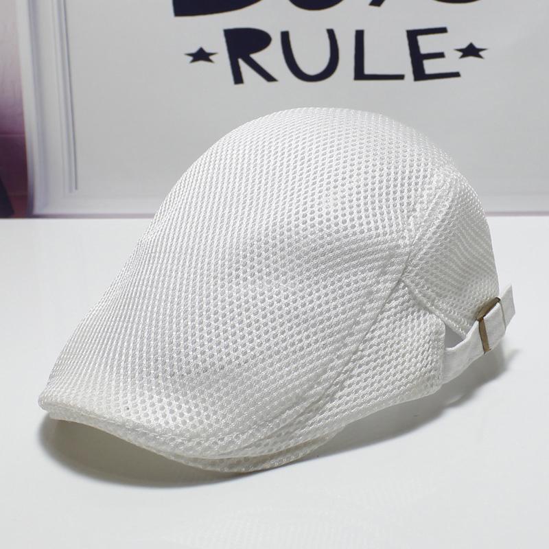Trendy hat mens cap summer mesh breathable forward Hat Womens sunshade simple versatile spring and autumn Beret