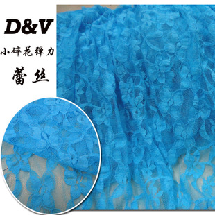 Blue floral pattern lace fabric lace fabric stretch fabric dress clothing accessories