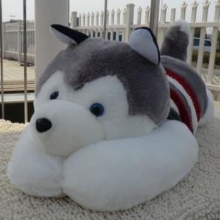 Оптовые аутентичные кукла хаски папа собака большая собака игрушка кукла дал девочек подарок на день рождения