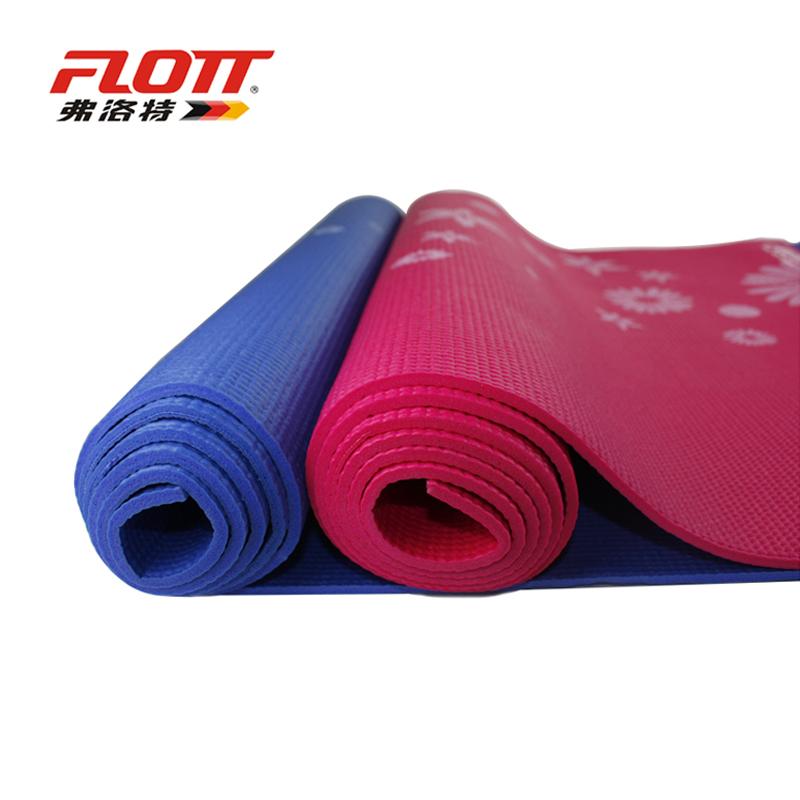 弗洛特瑜伽毯正品 5mm毫米 瑜珈垫加厚防滑愈加垫健身垫包邮