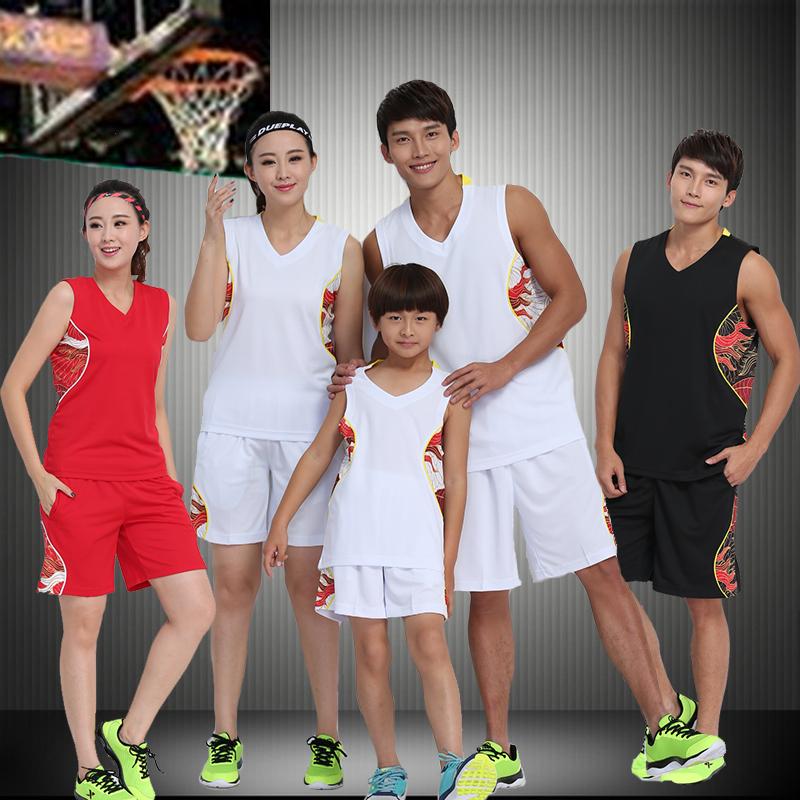 正品保证2019篮球服套装男女训练背心光板无标儿童篮球衣大码比赛服可印制