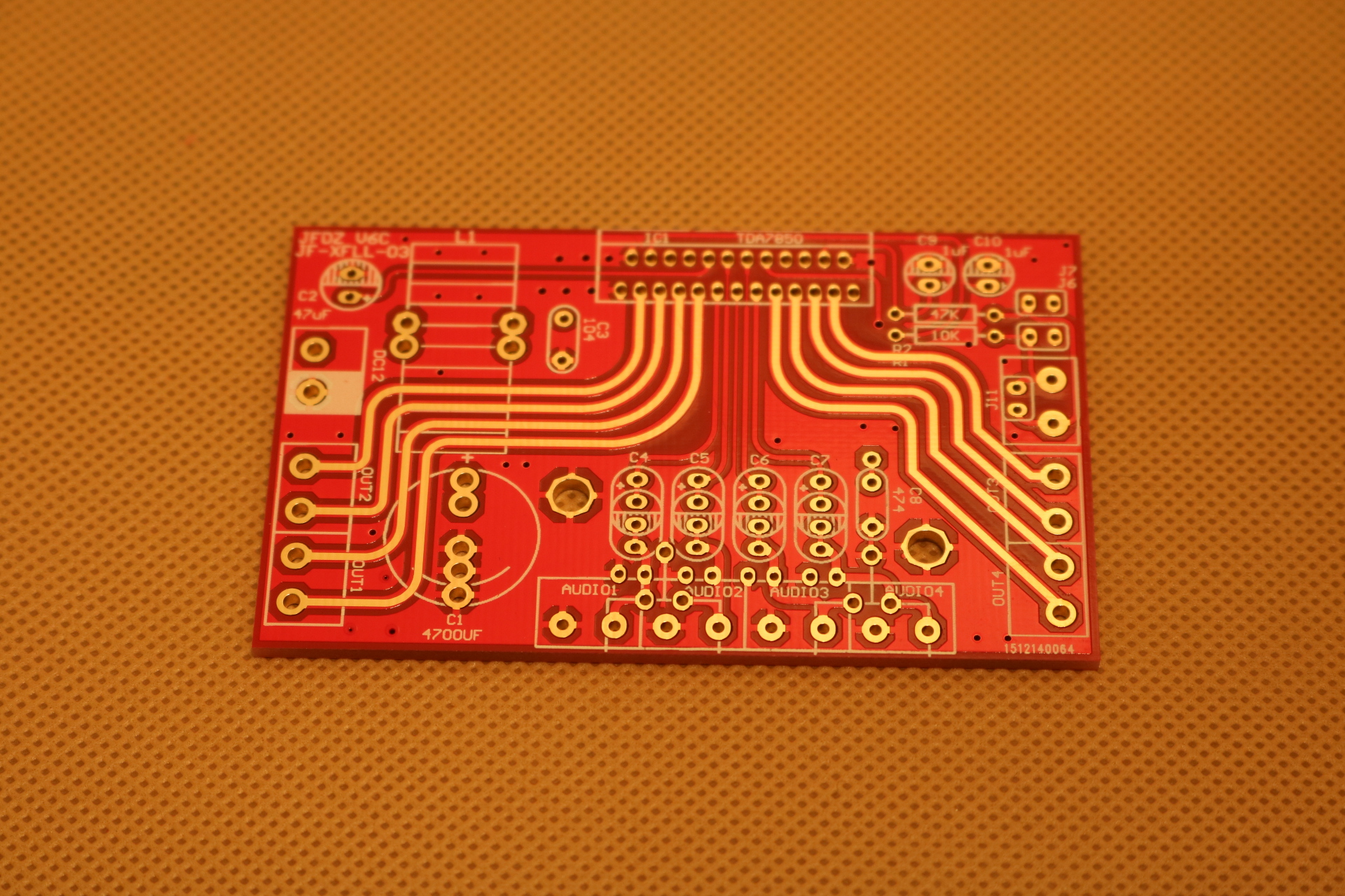 Позолоченные мощности Усилитель PCB печатной платы TDA7850 4 * 50W совместимый 7388 серии чип Kit