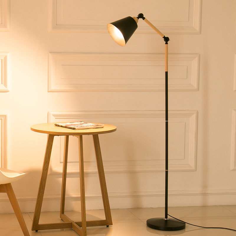 Floor lamp modern simple LED eye protection fishing lamp creativity Nordic IKEA living room bedroom study vertical table lamp