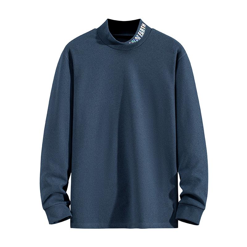 卫衣男女款宽松情侣外套女高领套头运动休闲长袖T恤上衣20390-P40