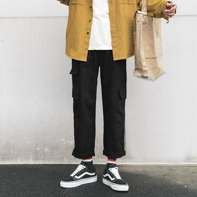 小尼力ins宽松直筒男士韩版工装裤满150.00元可用105元优惠券