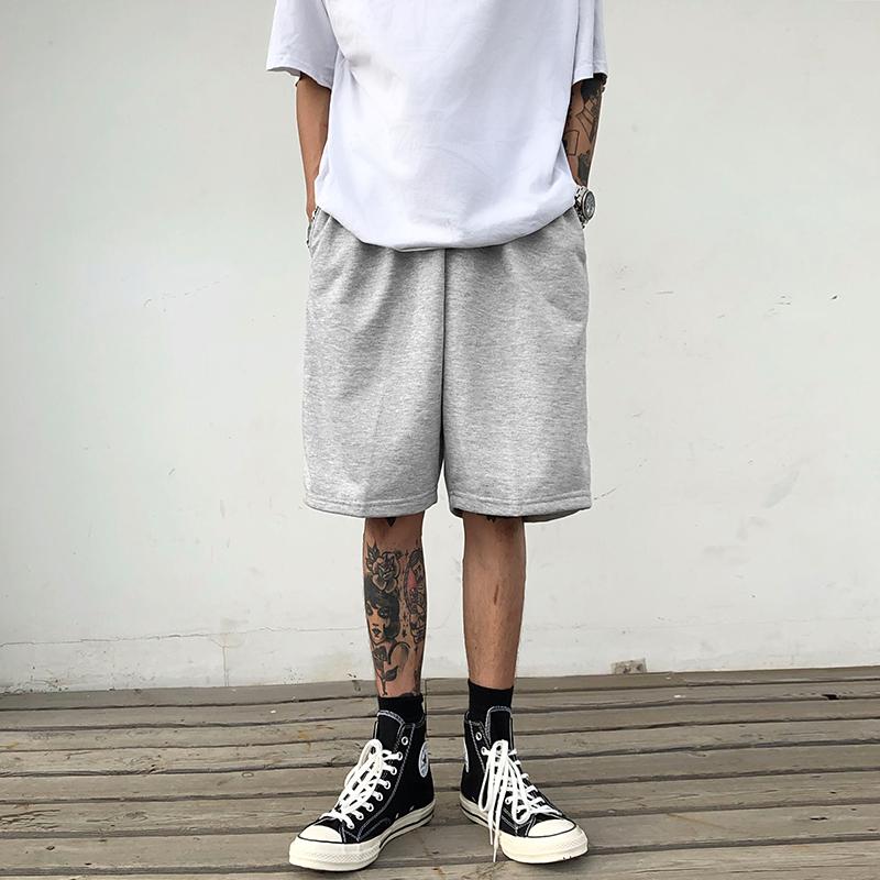 限10000张券夏季纯棉运动男士五分裤纯色短裤子