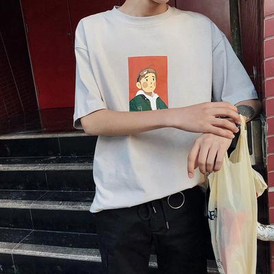 韩版短袖T恤夏季宽松半袖圆领潮流体恤808A-T334-特P25 限价39