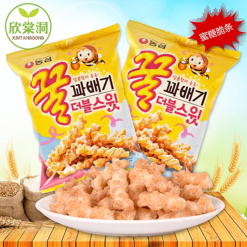 韩国进口零食 农心蜜糖脆条80g 双倍甜蜂蜜麻花 芝麻蜂蜜香脆可口
