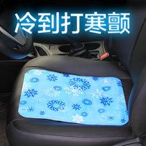 夏季单座夏季通风制冷汽车坐垫透气凉垫单片钢丝塑料网座垫单个