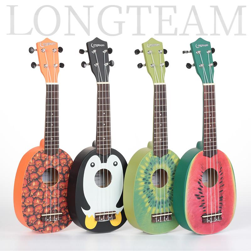 夏威夷尤克里里ukulele四弦琴小吉他 21寸ukelele乌克丽丽菠萝型(非品牌)