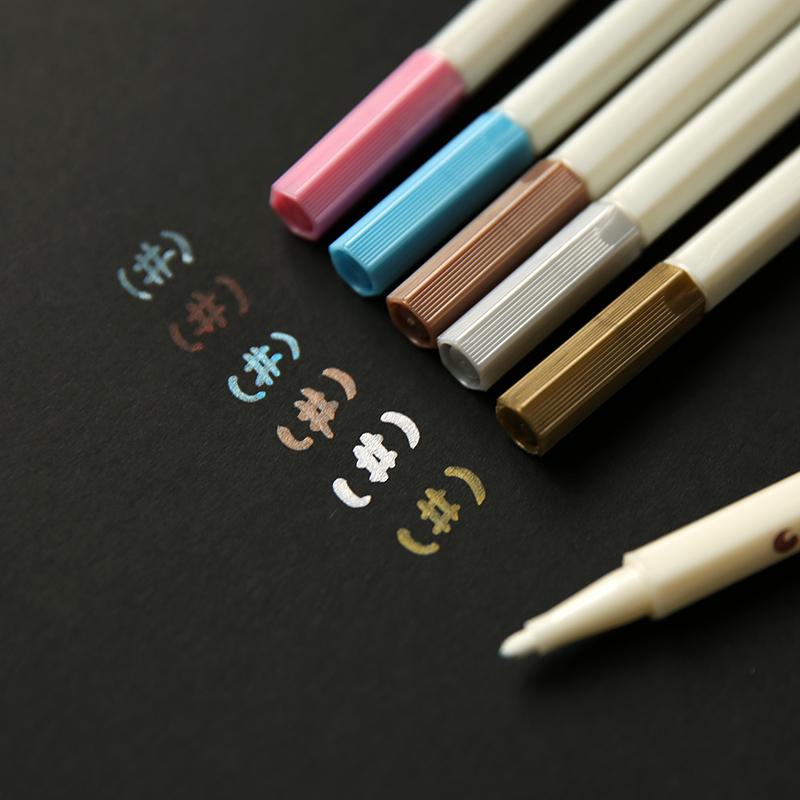 Краски карандаш diy граффити черная карта бумага специальный высокое качество металлический цвет карандаш альбомы карандаш пометка карандаш золото и серебро карандаш