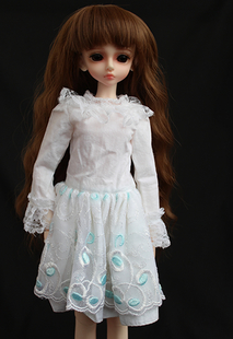 4 stars doll white dress