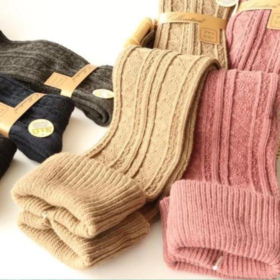 Манжетами колено носки чулки бедро высокие носки больше Мори девушка осень/зимой теплый хлопок трикотаж японские девушки чулки