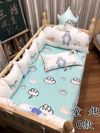 【宸昕家】婴儿床床围拼接床床挡纯棉套件皇冠靠枕儿童防撞床围图片