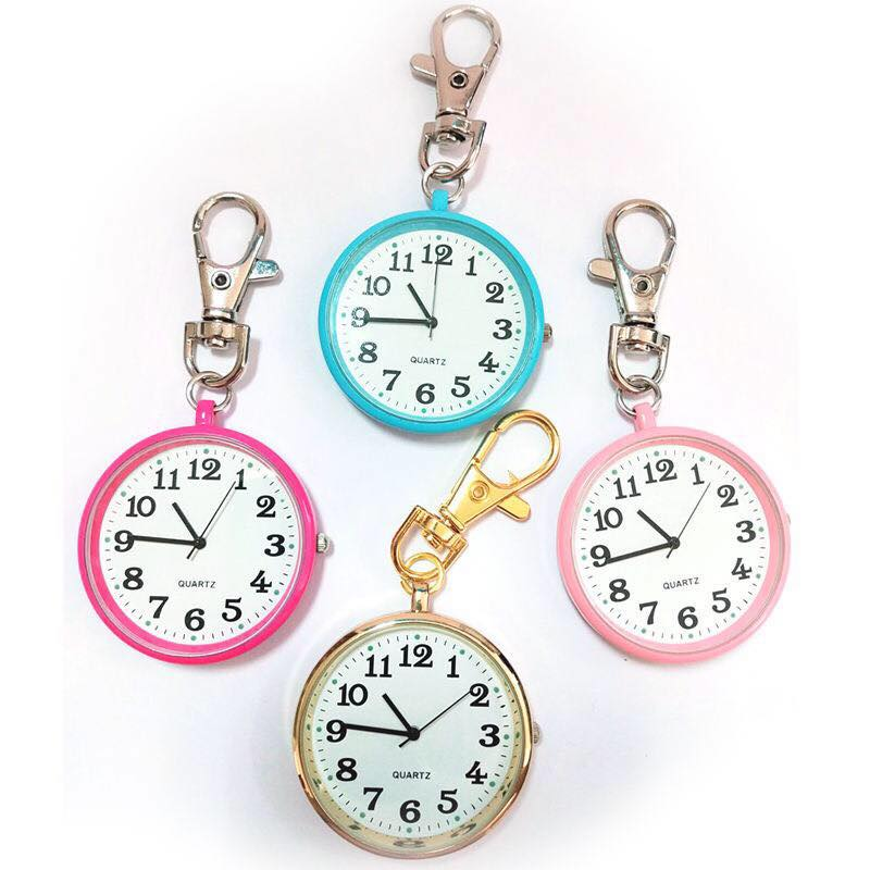 Mini retro pocket watch for the elderly electronic key chain watch for male and female students examination nurse table Portable Pocket Watch