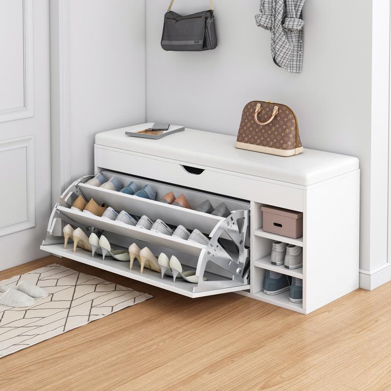 鞋柜家用门口大容量玄关柜鞋架北欧带换鞋凳简约现代收纳储物柜子