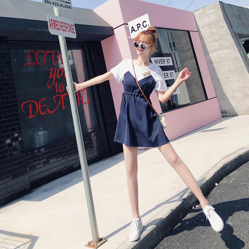 连衣裙女装夏2018新款韩版imiss慵懒风小心机设计感清新sukol裙子