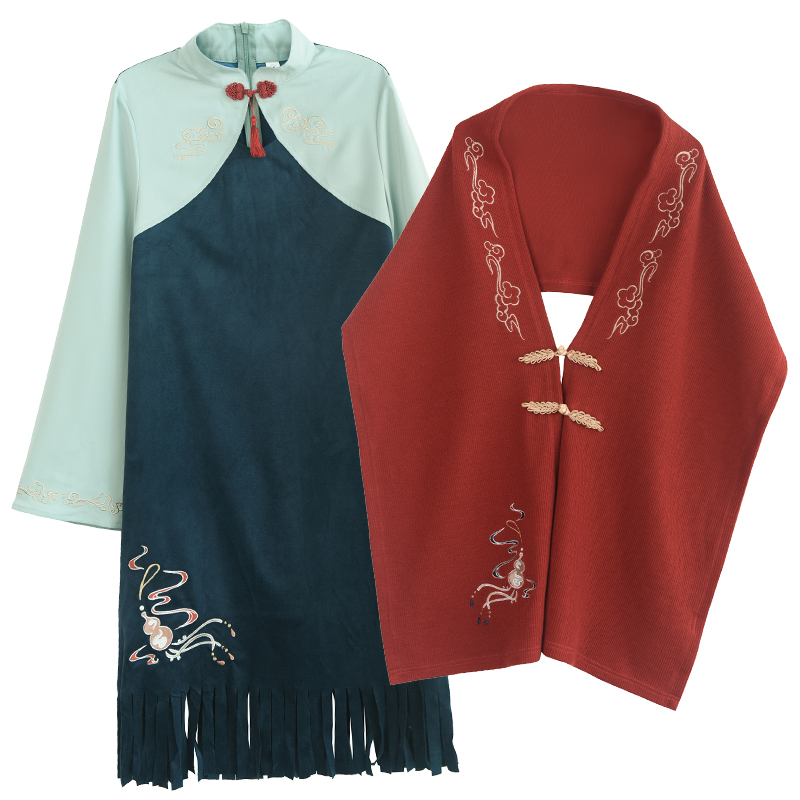 原创森女部落民族风旗袍式复古小众连衣裙潮少女2019新款女装春装
