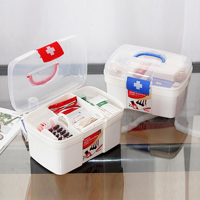 Большой размер пластик домой врач аптечка семья первая помощь коробка многослойный медицина статья ящик ребенок ребенок аптечка врач лечение коробка