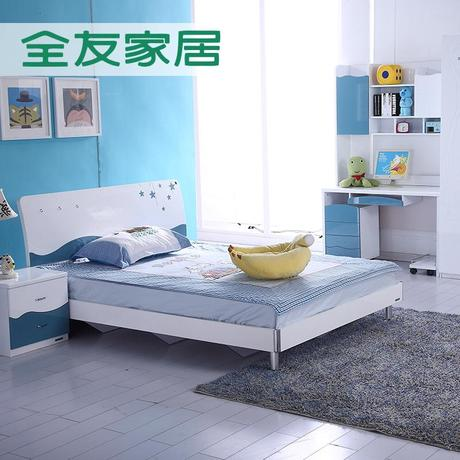 全友家居儿童家具1.5/1.2m床+床头柜+二门衣柜+书桌架+转椅101010商品大图