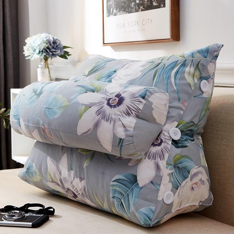 沙发靠垫软包大三角靠垫抱枕床头靠垫办公室腰靠背垫床上护颈靠枕