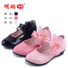 33840 authentic female children's shoes in the spring and autumn moves JiFang large single shoes and children's shoes lace flowers