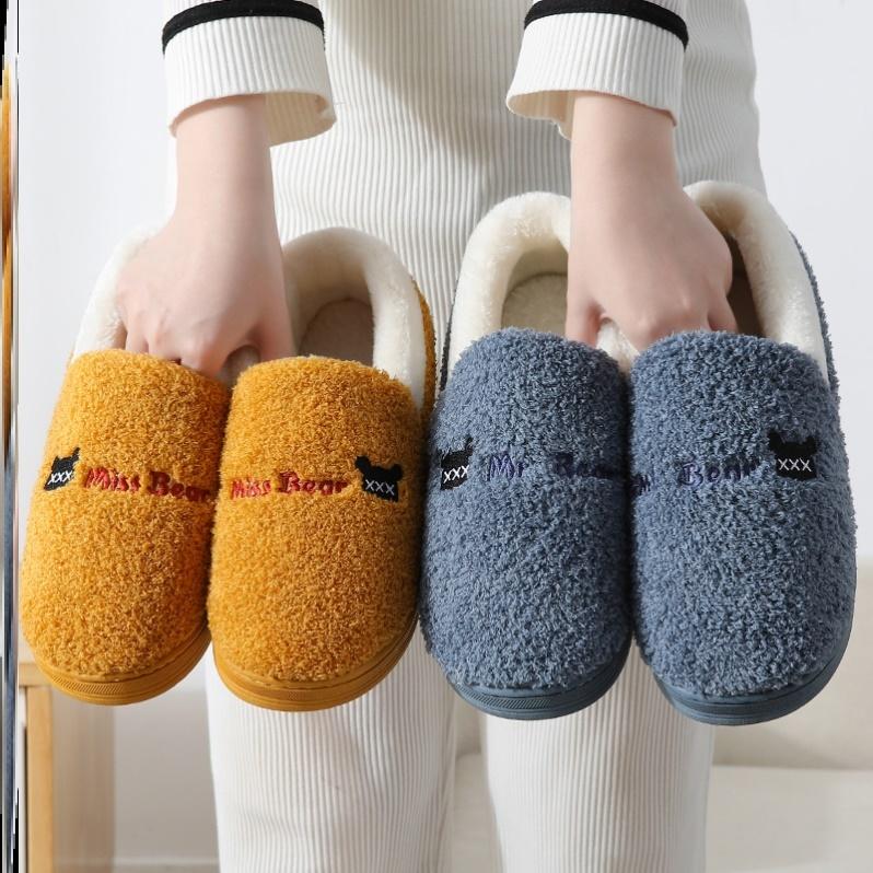 棉拖鞋女软萌治愈系包跟过冬潮流软底舒适包后跟大码加绒居家外穿