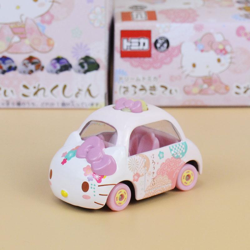 TOMY多美卡 HelloKitty  凯蒂猫合金小汽车模型玩具卡通车模摆件