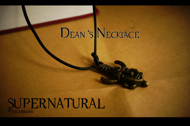 Unexpected SPN evil power super natural Dean necklace with cardboard gift