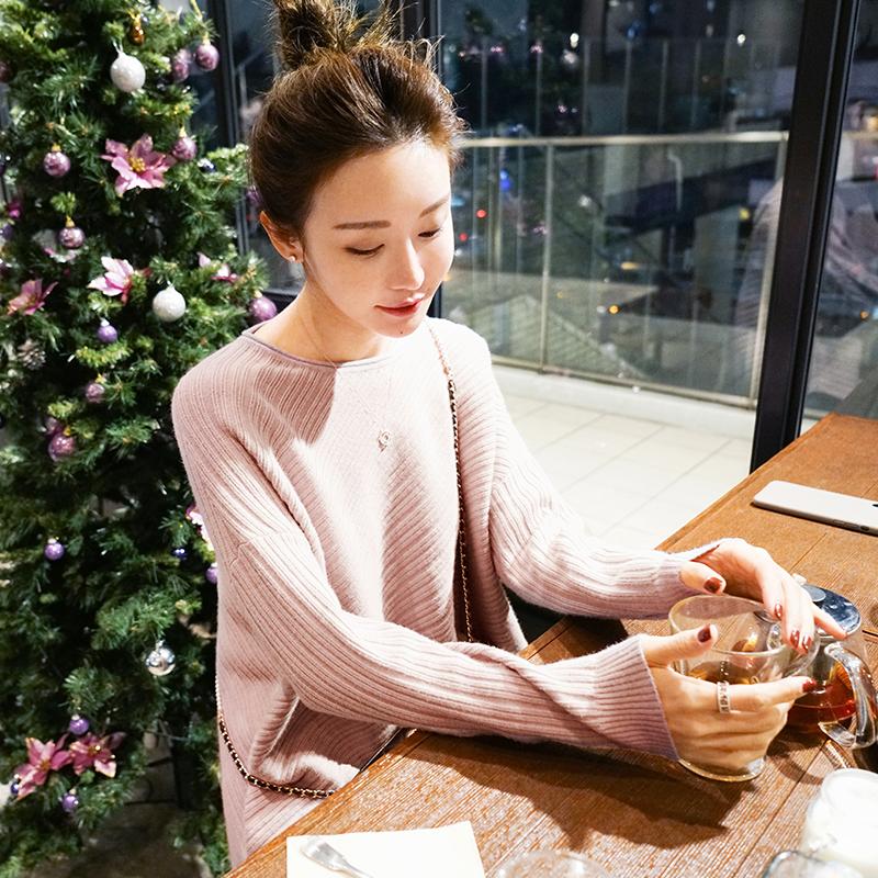 jin2017秋冬新款条纹毛衣毛衣宽松针织衫上衣女装11A26